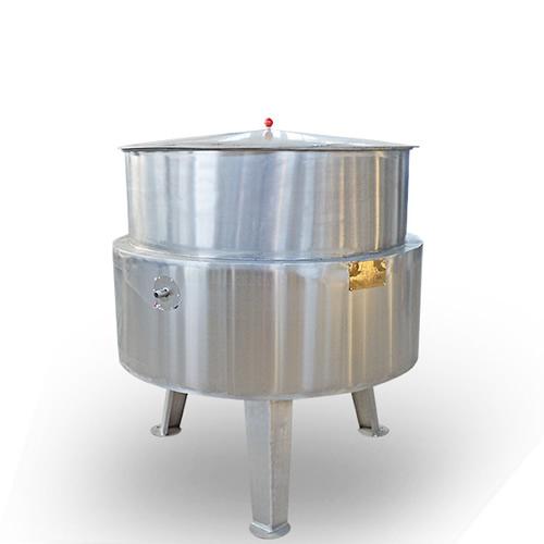 立式蒸汽带保温层夹层锅